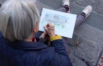 Balade croquis avec un dessinateur, pour voir Paris autrement