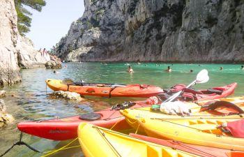 Balade en kayak entre les Calanques et la côte Varoise