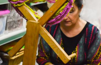 Initiation au filage de laine au rouet
