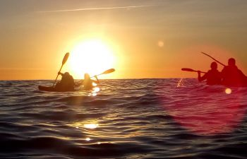 Sortie Kayak au coucher de soleil sur les îles des Embiez