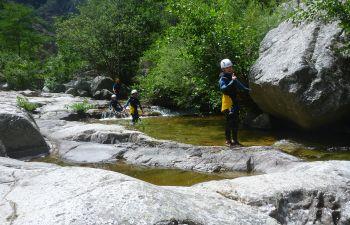 Canyoning en famille dans les Gorges du Chassezac
