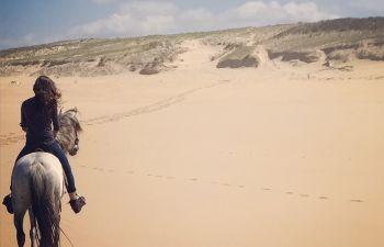 Balade à cheval sur la plage Landaise