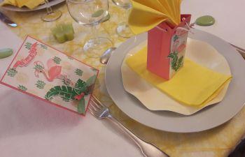 Création de décoration de table pour un événement