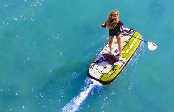 Initiation insolite au paddle électrique