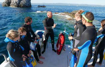 Randonnée palmée (snorkeling) dans l'Esterel