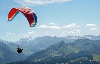 Baptême de l'air en Biplace Parapente au dessus du Mont Blanc
