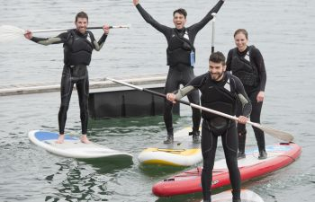 Cours ludique et technique de stand up paddle depuis le port de Socoa