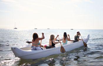 Découverte de la Pirogue Polynésienne dans le Golfe de Saint-Tropez