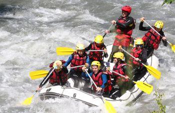 Initiation rafting pour adulte sur le Doron de Bozel