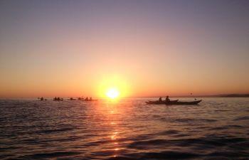 Coucher de soleil en kayak aux portes des calanques