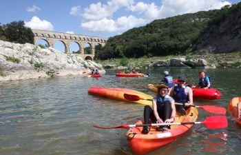 Initiation au canoë au Pont du Gard