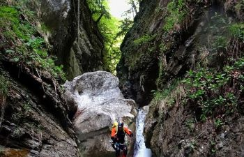 Initiation canyoning sur le canyon de Montmin