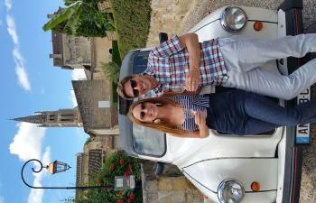 Visite guidée des grands crus de Saint-Emilion en taxi londonien
