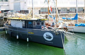 Balade matinale en mer sur un Columbus à La Rochelle