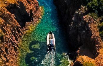 Excursion en bateau dans les calanques de L'Estérel