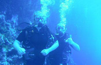 Baptême de plongée Côte sous le vent filmé