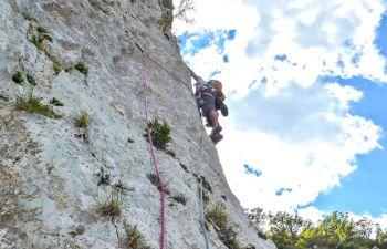 Escalade en milieux naturels dans les Gorges du Verdon !