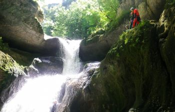 Canyoning journée dans le Jura : descente dans le Canyon de Coiserette !