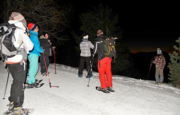 Randonnée raquettes nocturne dans les Pyrénées Catalanes